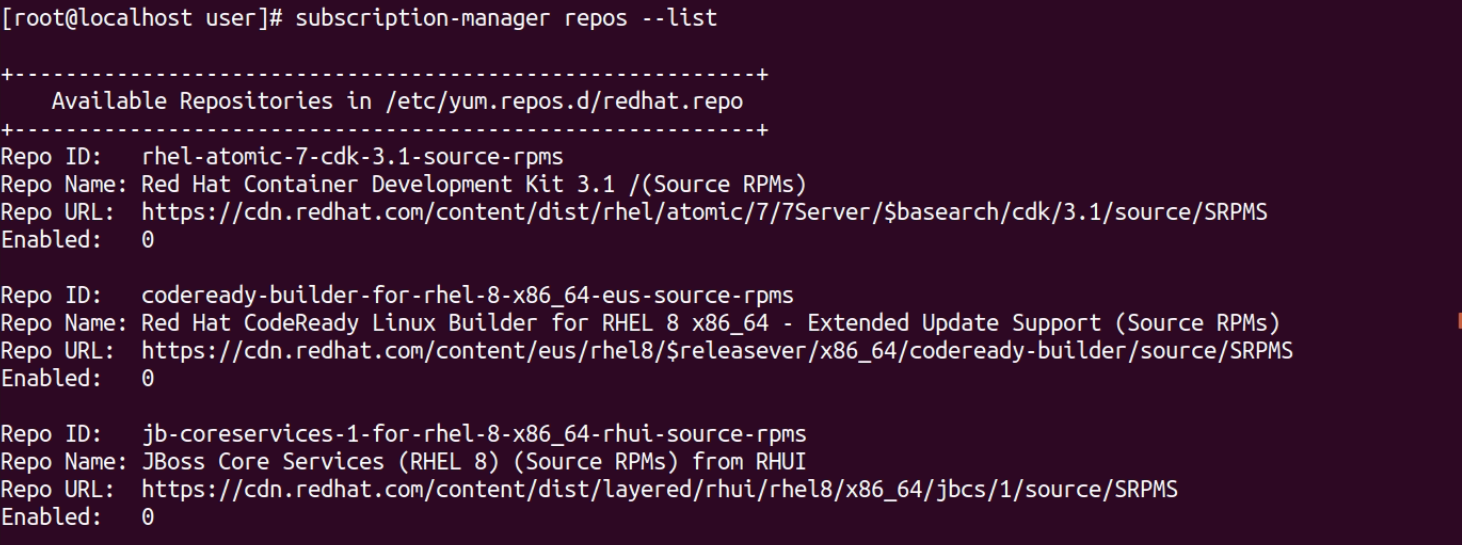 Enable Red Hat Subscription, Repositories and Updates for RHEL 8.4 Server