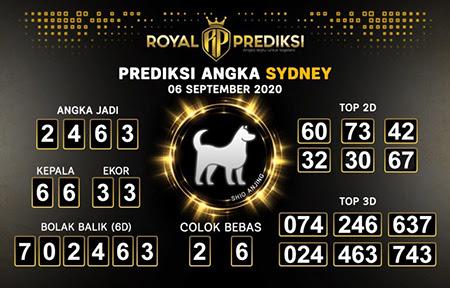 Royal Prediksi Sidney Minggu 06 September 2020