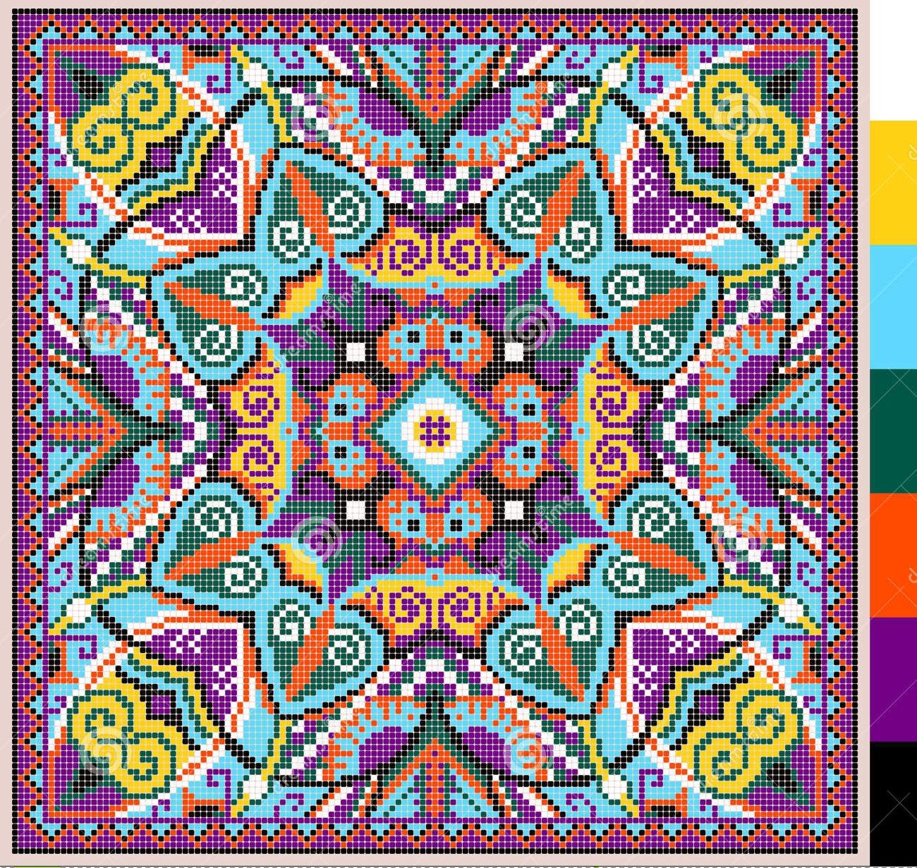 Kufer Z Artystycznym Rękodziełem Ukraińskie Geometryczne