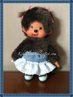 kiki monchhichi doll poupée couture sewing jupe vêtement handmade fait main