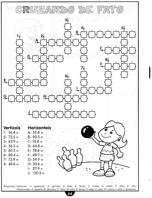 Multiplicação e divisão de números inteiros atividades