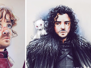 Personagens de Game of Thrones em cartoon