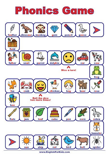 Phonics game for English learners