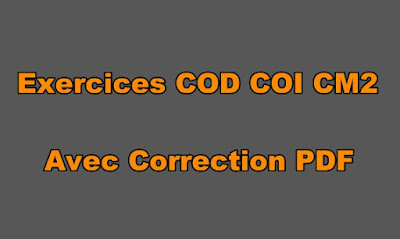 Exercices COD COI CM2 Avec Correction PDF