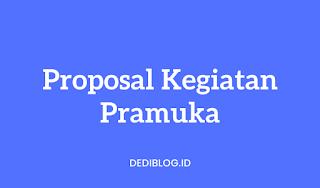 Contoh Proposal Kegiatan Pramuka