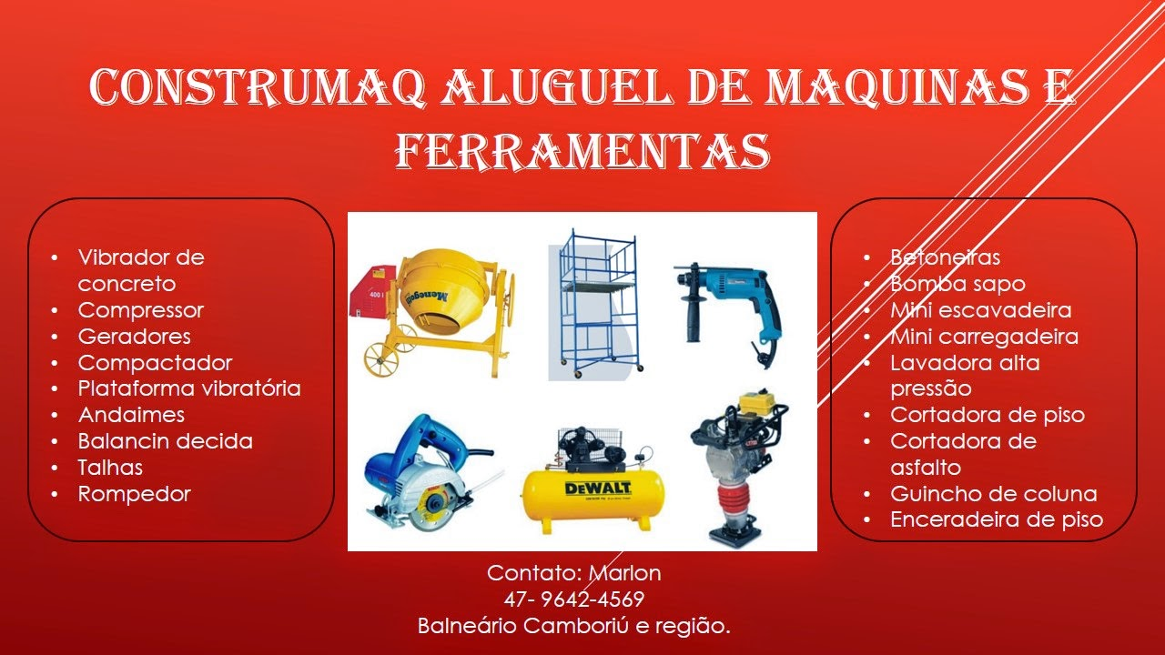 Construmaq Andaimes  Locação maquinas, equipamentos e ferramentas ... 59083938bc