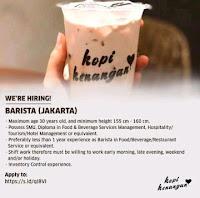 Lowongan Kerja Barista Kopi Kenangan Jakarta