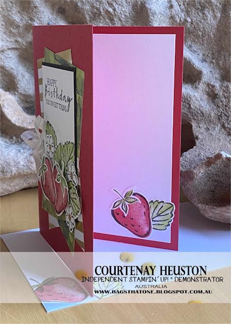 Sweet Strawberry Card inside