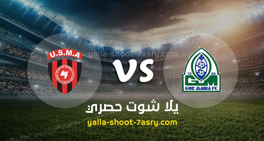 مباراة غور ماهيا وإتحاد الجزائر