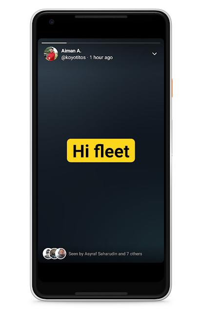 Twitter Mula Menawarkan Fungsi Story Yang Diberi Nama Fleet Kepada Semua