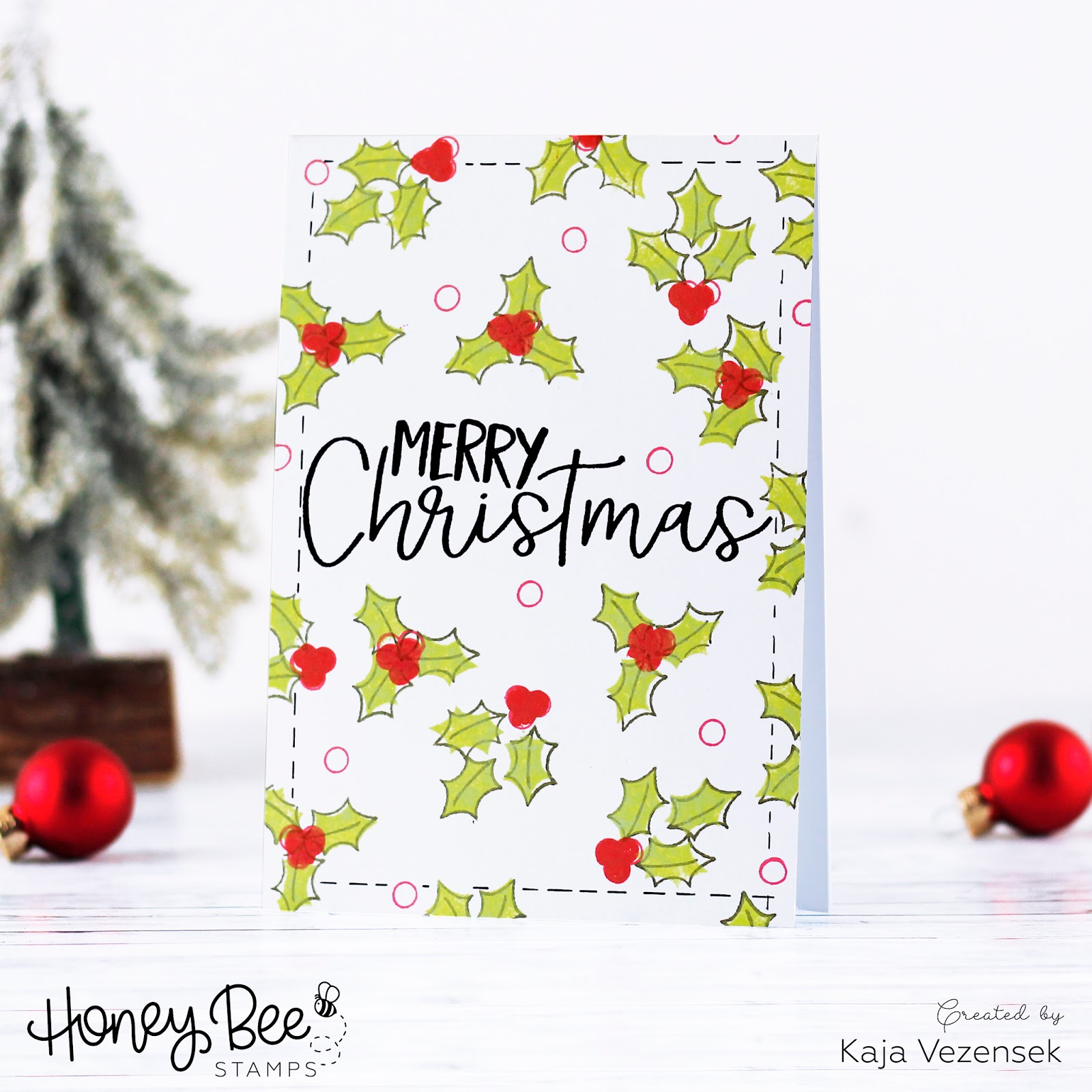One layer Christmas card | HONEY BEE