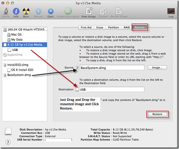 how to make bootable usb mac dmg