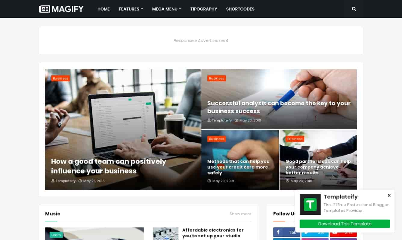 magify best template for blogger,how to download magify blogger template