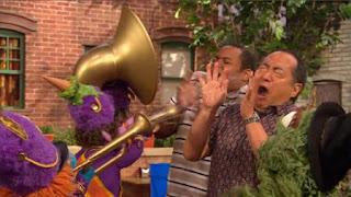 Alan, Chris, Oscar the Grouch, marching band, Sesame Street Episode 4324 Trashgiving Day season 43
