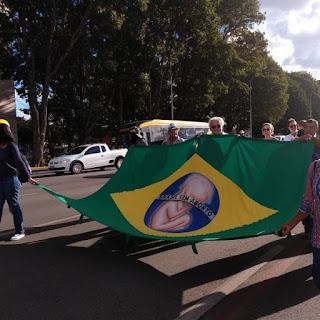 Marcha Nacional da Cidadania pela Vida protesta contra aborto em Brasília