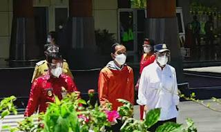 Kapolda Sulsel Sambut Kedatangan Presiden Joko Widodo Dalam Rangka Kunjungan Kerja Di Sulsel
