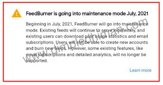 फीडबर्नर टीम ने एक सिस्टम अपडेट घोषणा जारी की, जिसमें ईमेल सदस्यता सेवा बंद कर दी जाएगी - डिंपल धीमान