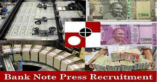 Currency Note Press Recruitment 2019
