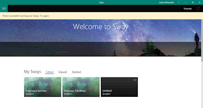 Tampilan Microsoft Sway
