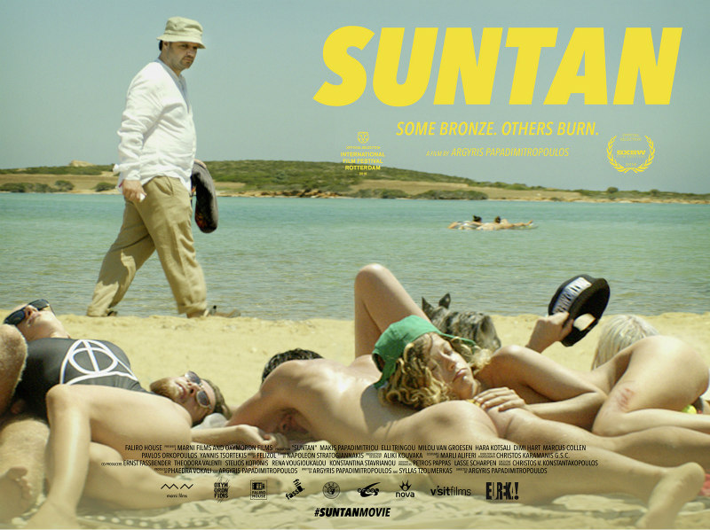 suntan greek movie poster