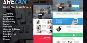 Shezan Landing Page AMP HTML Blogger Template