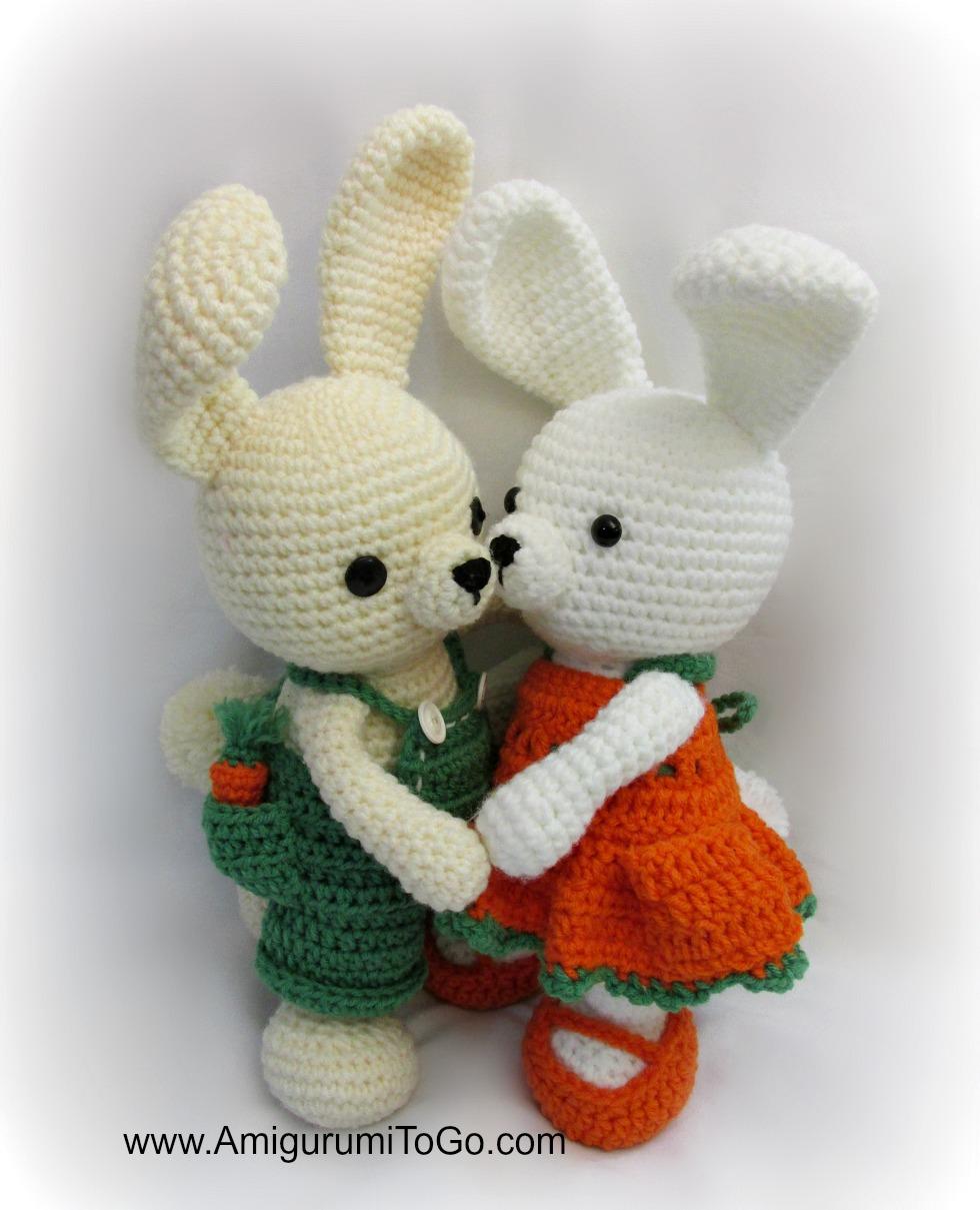 Crochet bunny in dress amigurumi pattern | Amigurumi Space | 1209x980
