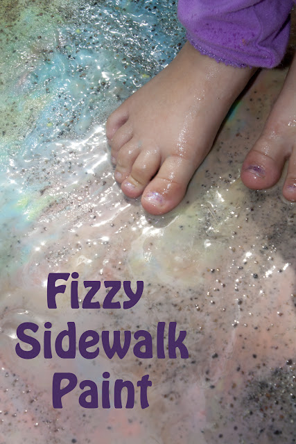 Mix Up some Fizzy Sidewalk Paint for Sensory Fun