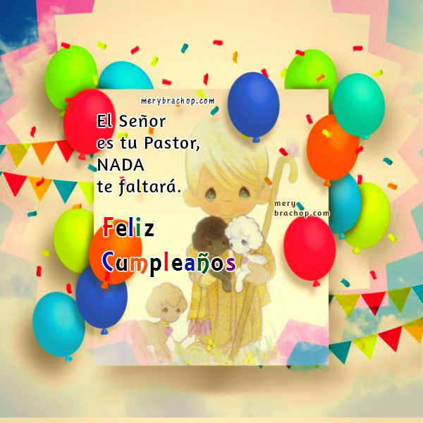 linda tarjeta de cumpleaños hija salmo 23 el Señor es mi pastor nada me faltara