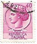 Selo Itália Turrita, 40 Lira
