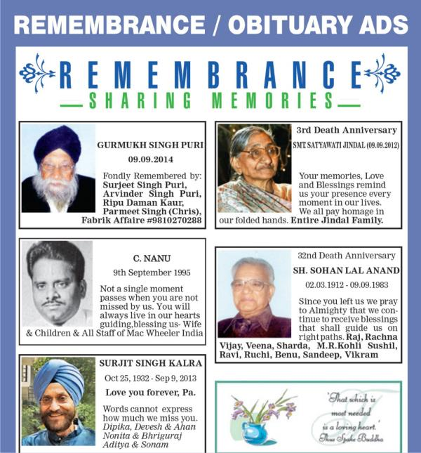 Obituary Ad Samples Death Announcement Ad Samples