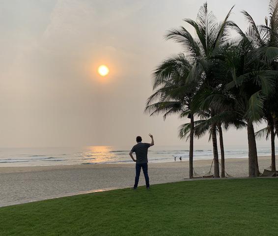 Catching the sunset in Vietnam