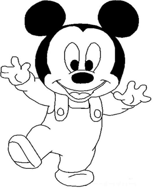 20 Sketsa  Mewarnai Gambar  Kartun  Mickey Mouse Yang Lucu