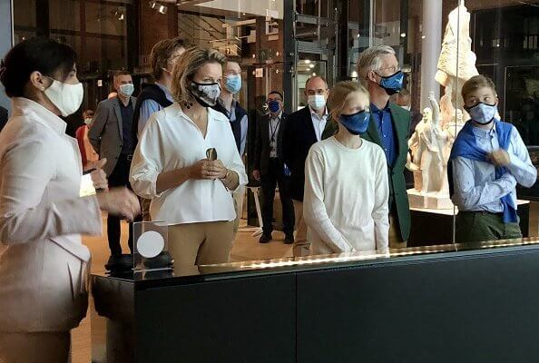 Queen Mathilde, Prince Gabriel, Prince Emmanuel and Princess Eléonore also visited the House of European History