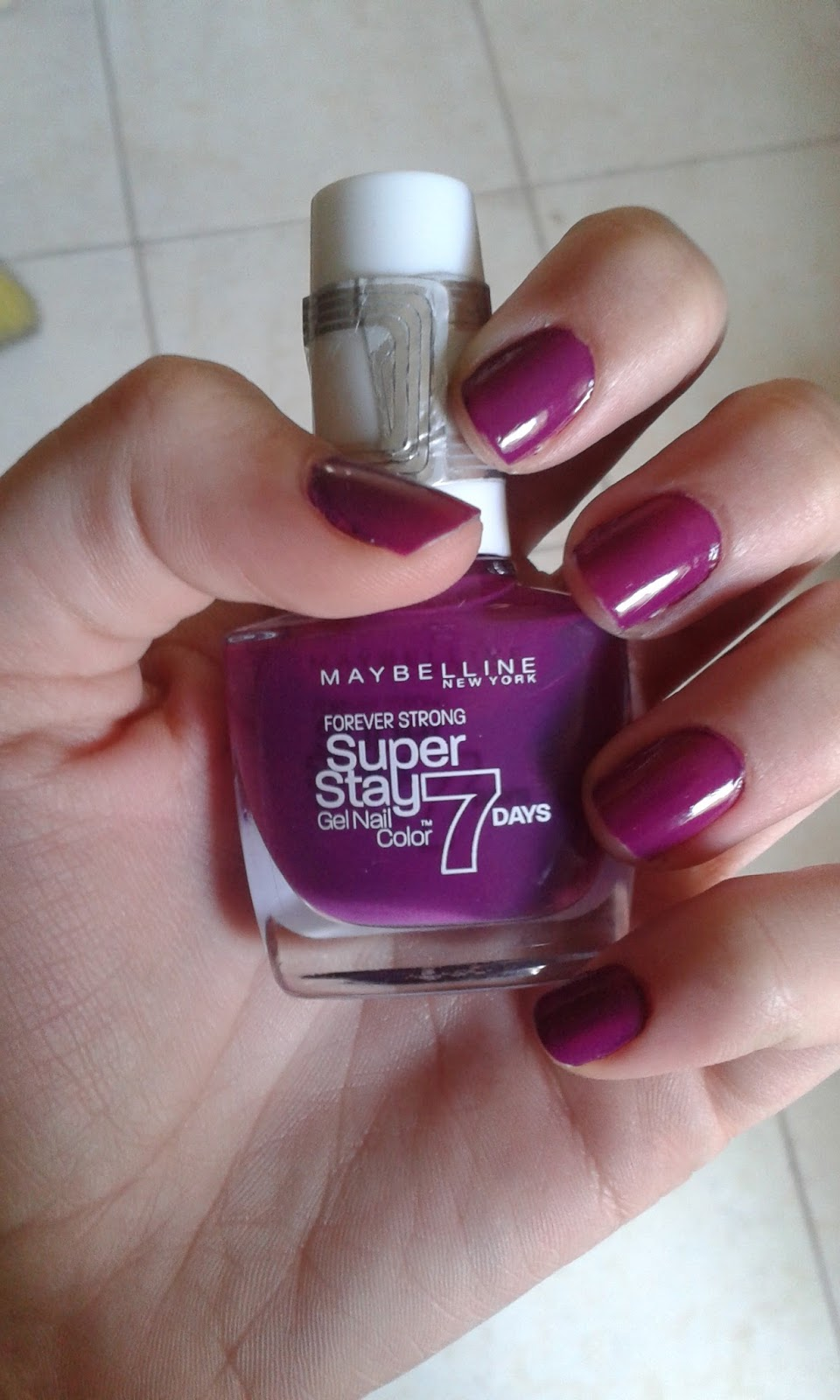 Maybelline Superstay 7 Days Gel Nail Color Review 230 Berry Stain