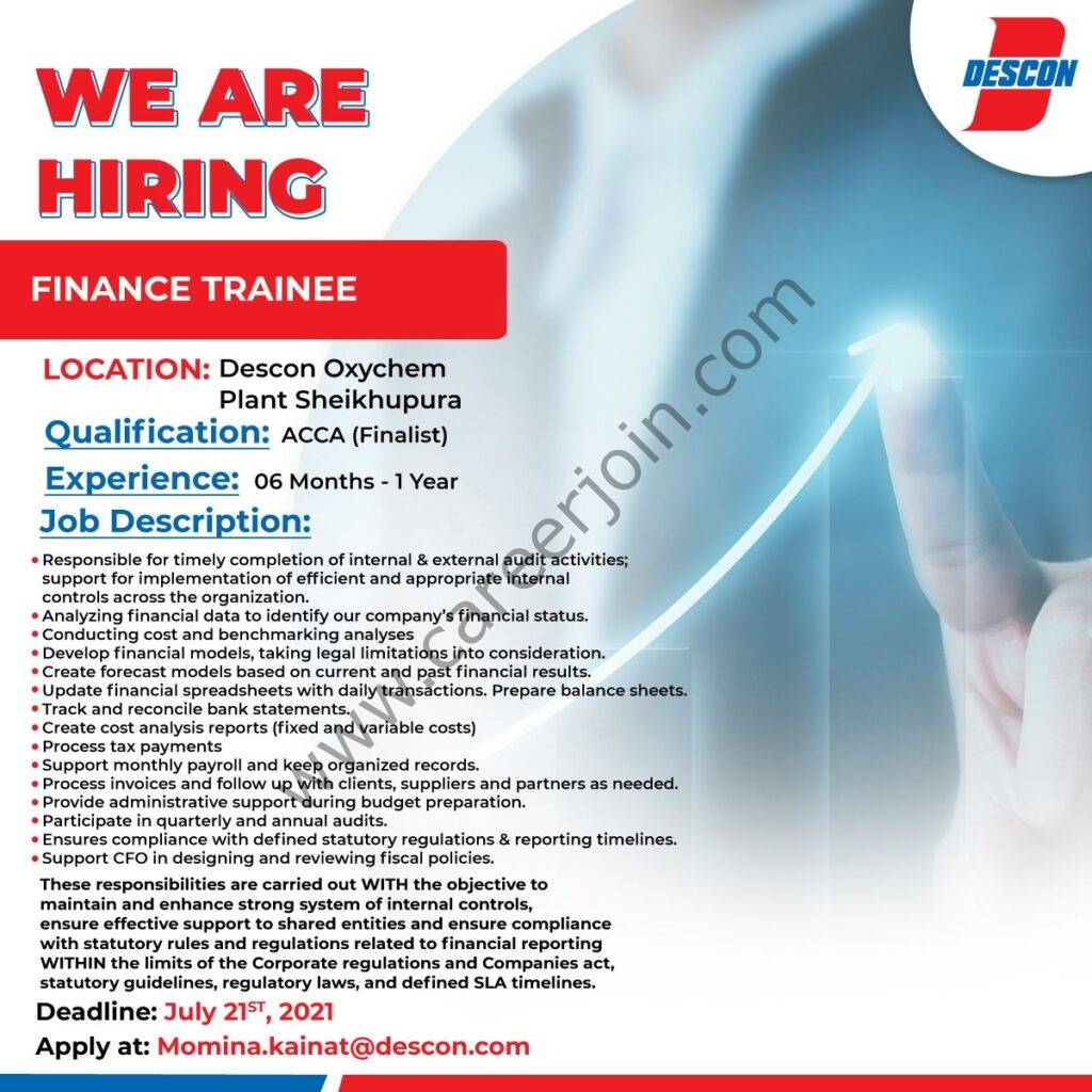 Descon Engineering Pakistan Jobs July 2021