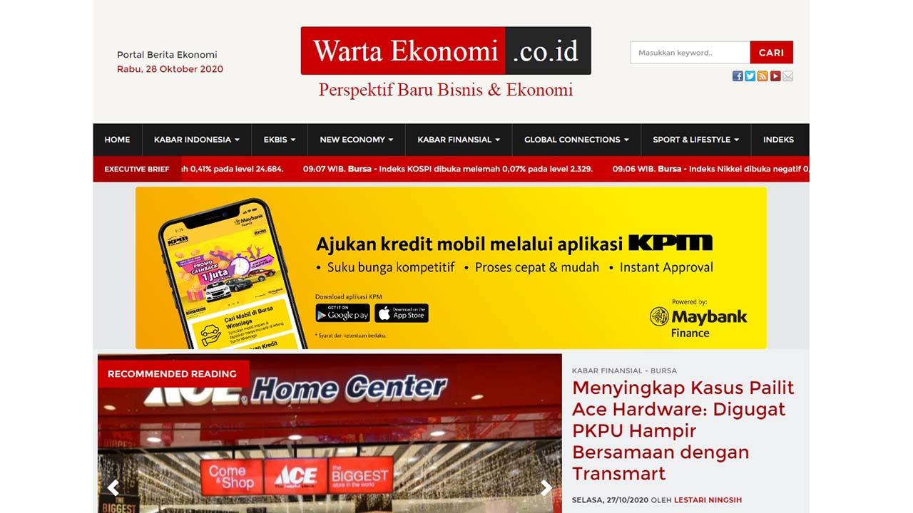 Dapatkan Berita Bisnis dan Ekonomi untuk Perencanaan Finansial di Warta Ekonomi