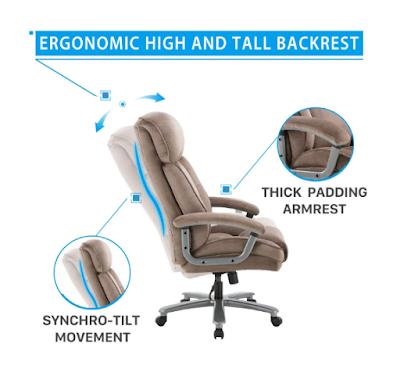 Ergonomic Big & Tall Executive Office Chair