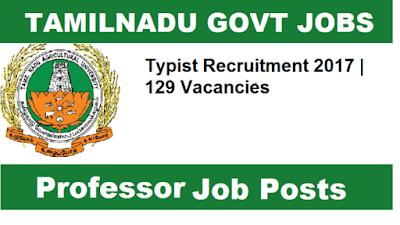 TNAU Recruitment 2017 - 129 Vacancies for Junior Assistant cum Typist