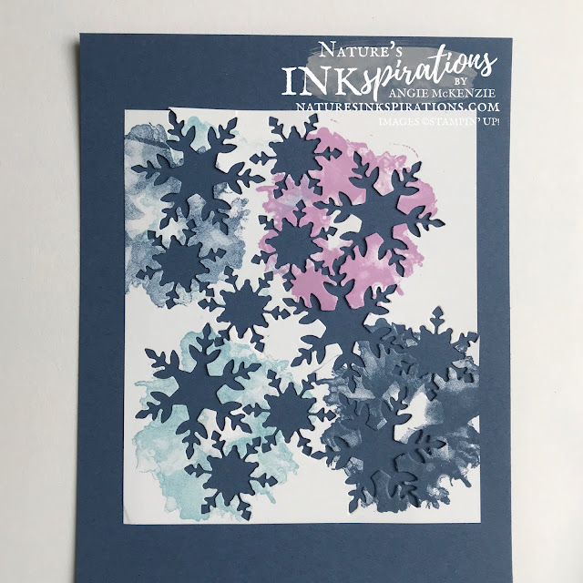 Create watercolor snowflakes with the Artistically Inked Stamp Set | Nature's INKspirations by Angie McKenzie