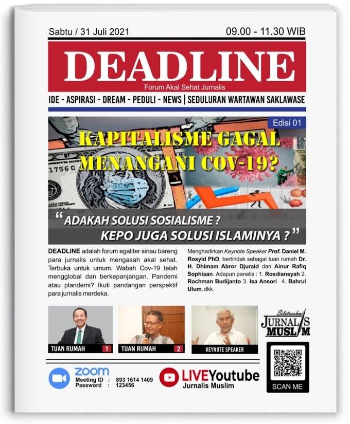 Launching Diskusi Online Wartawan : DEADLINE