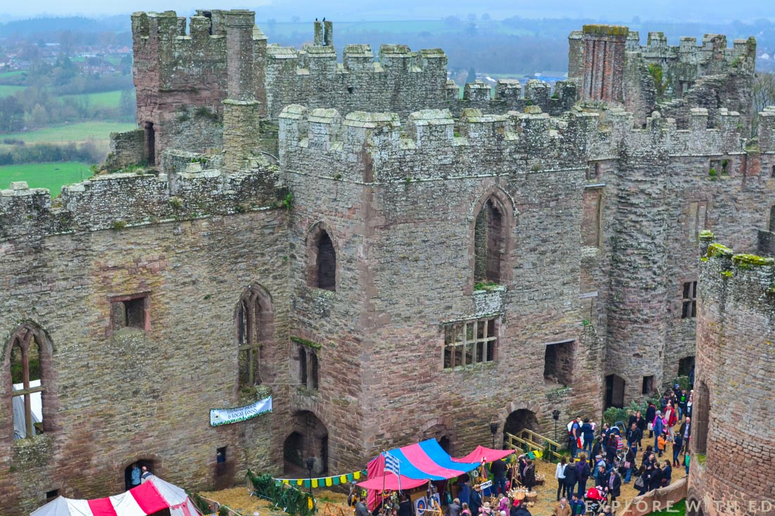 Ludlow Castle keep view