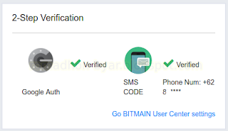 Status Google Auth Verified | Tutorial - Cara mengaktifkan Google Authenticator di Hashnest