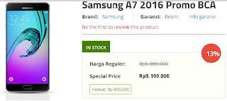 Samsung Galaxy A7 2016 Promo BCA Spesial Harga Rp 5.199.000 di Erafone