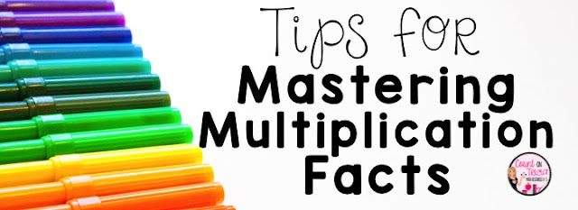teaching multiplication and mastering multiplication facts for second grade math and third grade math