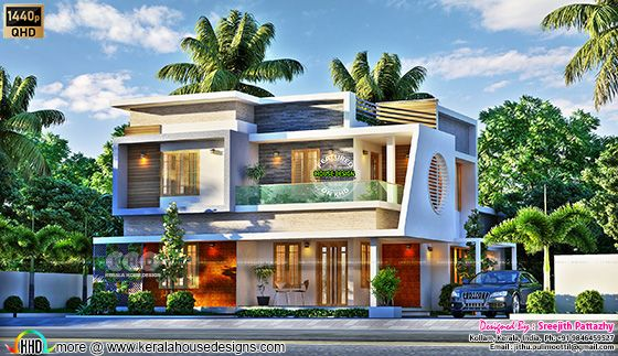 Super awesome contemporary house 3d rendering