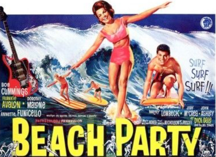A Vintage Nerd, Vintage Blog, Classic Beach Movies, Old Hollywood Blog, Classic Film Blog, Retro Lifestyle Blog, Beach Party