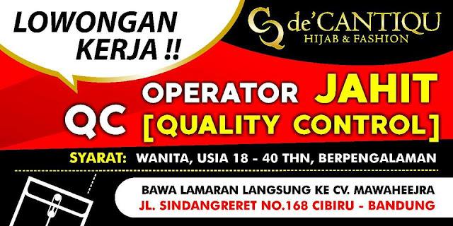 Lowongan Kerja de Cantiqu Bandung