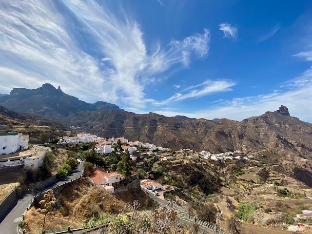 Mountain views over Tejeda, including Roque Nublo, Gran Canaria, Spain