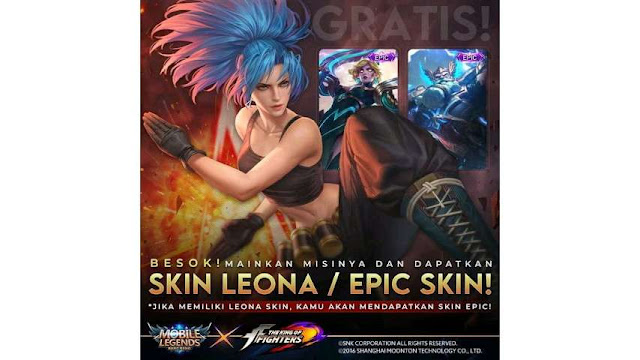Skin ML gratis permanen - lucky shop event terbatas