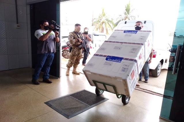 Rondônia recebe 27,7 mil doses de vacinas contra Covid-19
